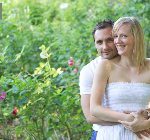 Engagement photo shoot with Caroline and Paul in Winchester, Hampshire