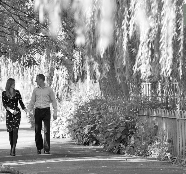 Engagement photo shoot with Ann-Marie and CJ in Winchester, Hampshire