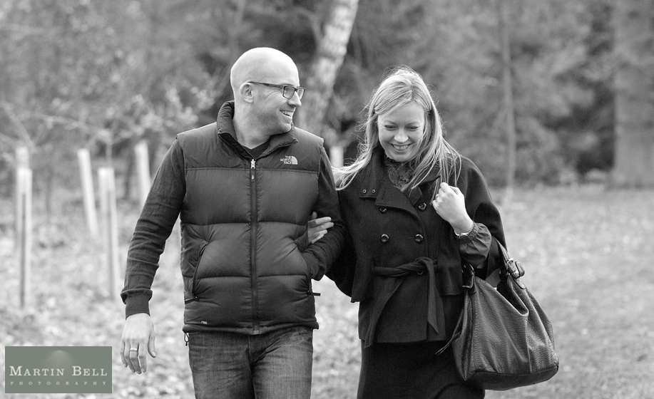 Engagement photo shoot at Hodsock Priory, Worksop - Jo and Andrew