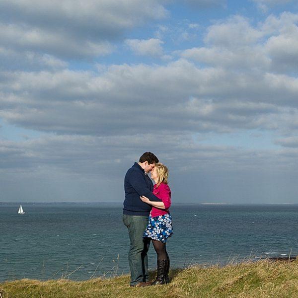 Dorset wedding photographer - A stunning Old Harry's Rocks engagement photo shoot