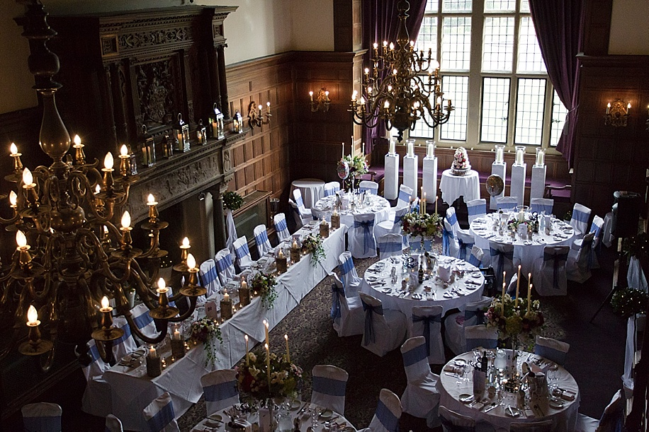 A Rhinefield House wedding by Hampshire wedding photographer - Martin Bell Photography - Grand Hall wedding breakfast