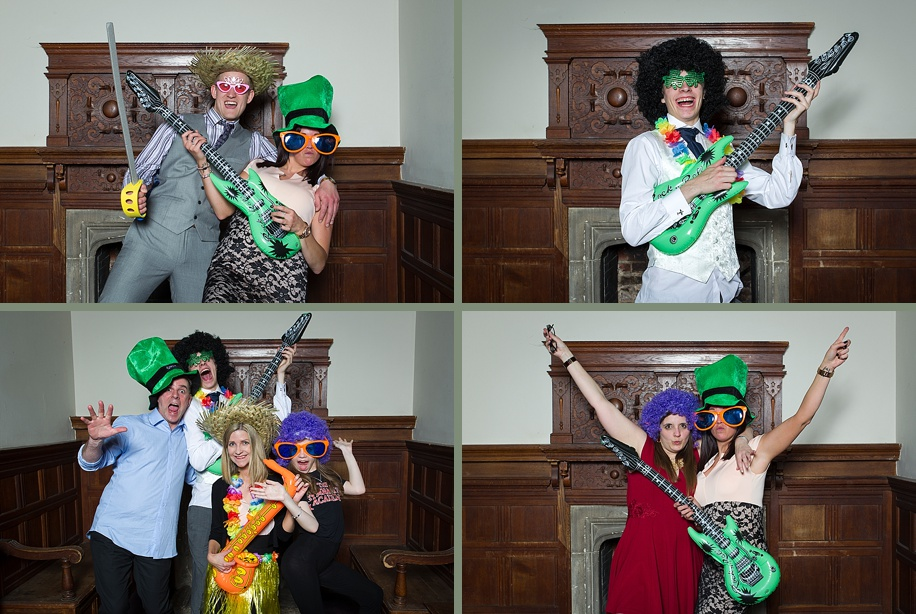 A Rhinefield House wedding by Hampshire wedding photographer - Martin Bell Photography - fun photo booth