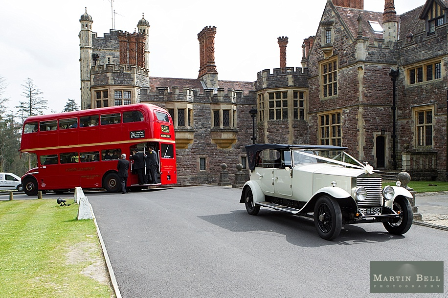 Rhinefield House wedding photography by Martin Bell Photography - Wedding cars