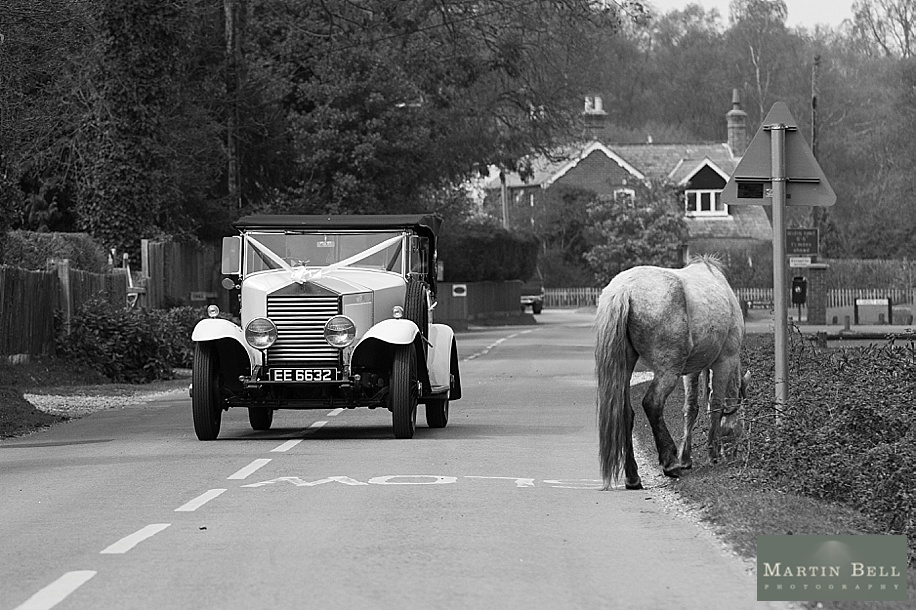 Rhinefield House wedding photography by Martin Bell Photography - Wedding cars in the New Forest