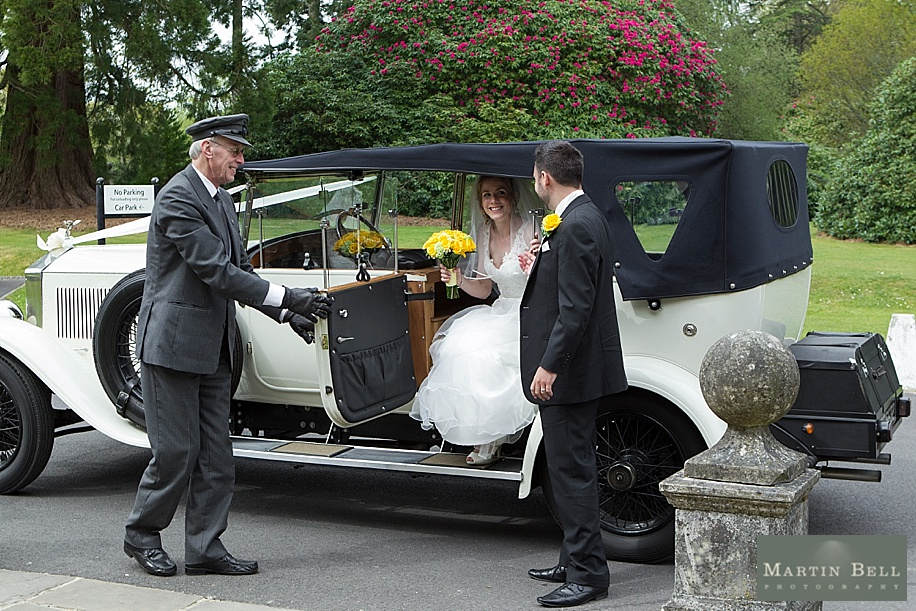 Rhinefield House wedding photography by Martin Bell Photography - wedding car photographs