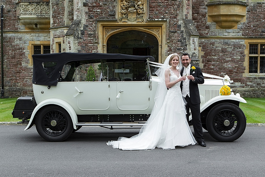 Rhinefield House wedding photography by Martin Bell Photography - wedding car photograph ideas