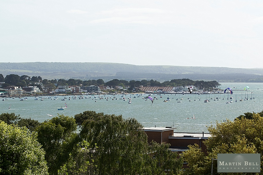View from Harbour Heights Hotel over Poole Harbour