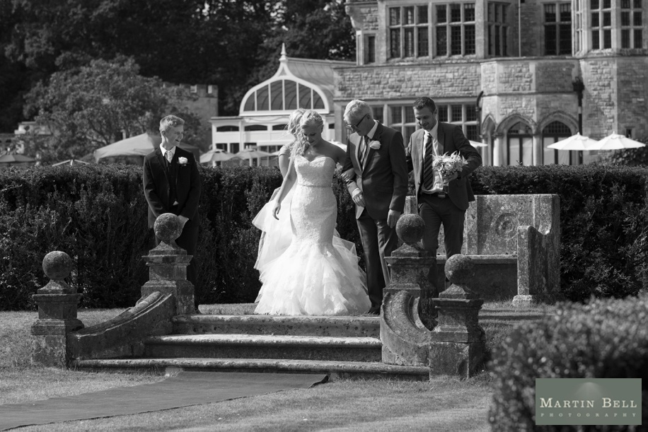 Bride's entrance for a Rhinefield House wedding