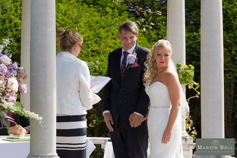 Small outdoor ceremony at Rhinefield House wedding