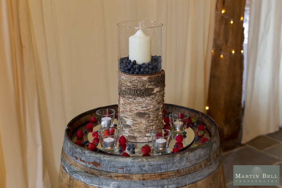 cool Manor Barn Buriton wedding ideas - fruit in jars