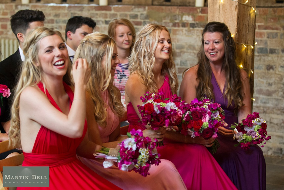 Documentary wedding photography - fun wedding photographs during the ceremony