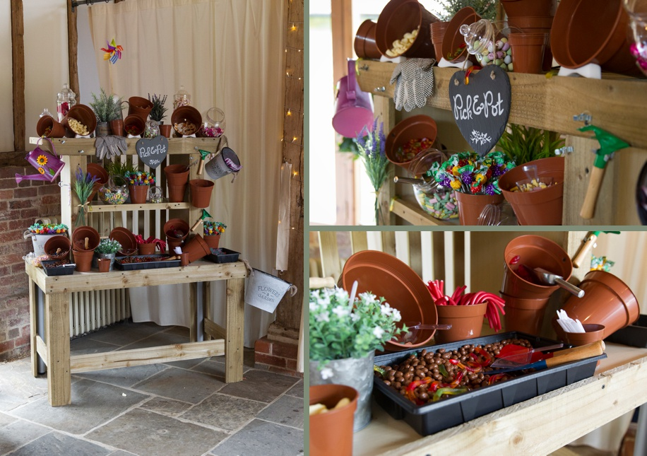 Unique wedding ideas - A potting shed as a sweet table