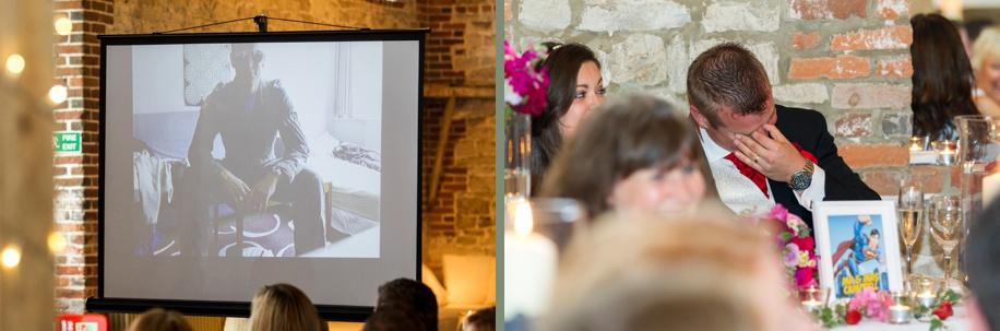 Hampshire wedding photography - Manor Barn in Buriton - amazing Best Man speech ideas