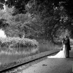 Manor Barn Buriton wedding photography - Amazing photograph by the lake