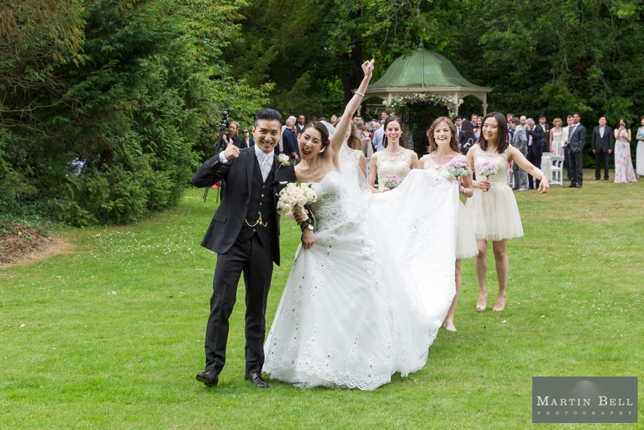 Manor by the Lake outdoor ceremony - Martin Bell Photography