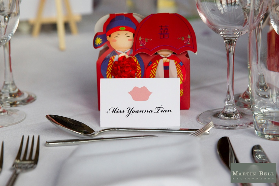 oriental themed wedding favour ideas - Martin Bell Photography