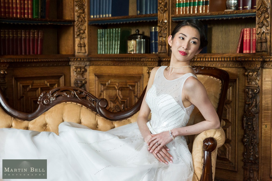 Elegant and chic Bridal portrait at Manor by the Lake