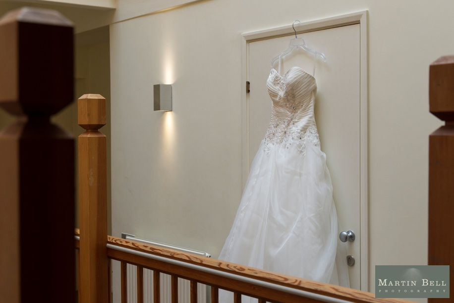 Beautiful wedding dress at a Marwell Hotel