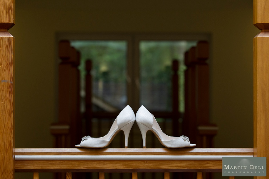 Bridal shoes by Hampshire wedding photographer - Martin Bell Photography