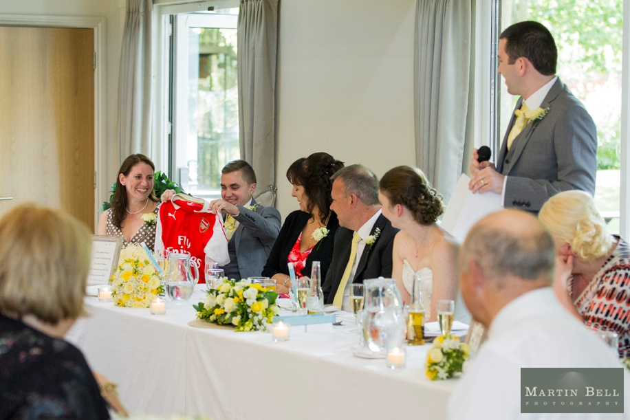 Documentary wedding photographs in Hampshire by Martin Bell Photography - cool best man present ideas