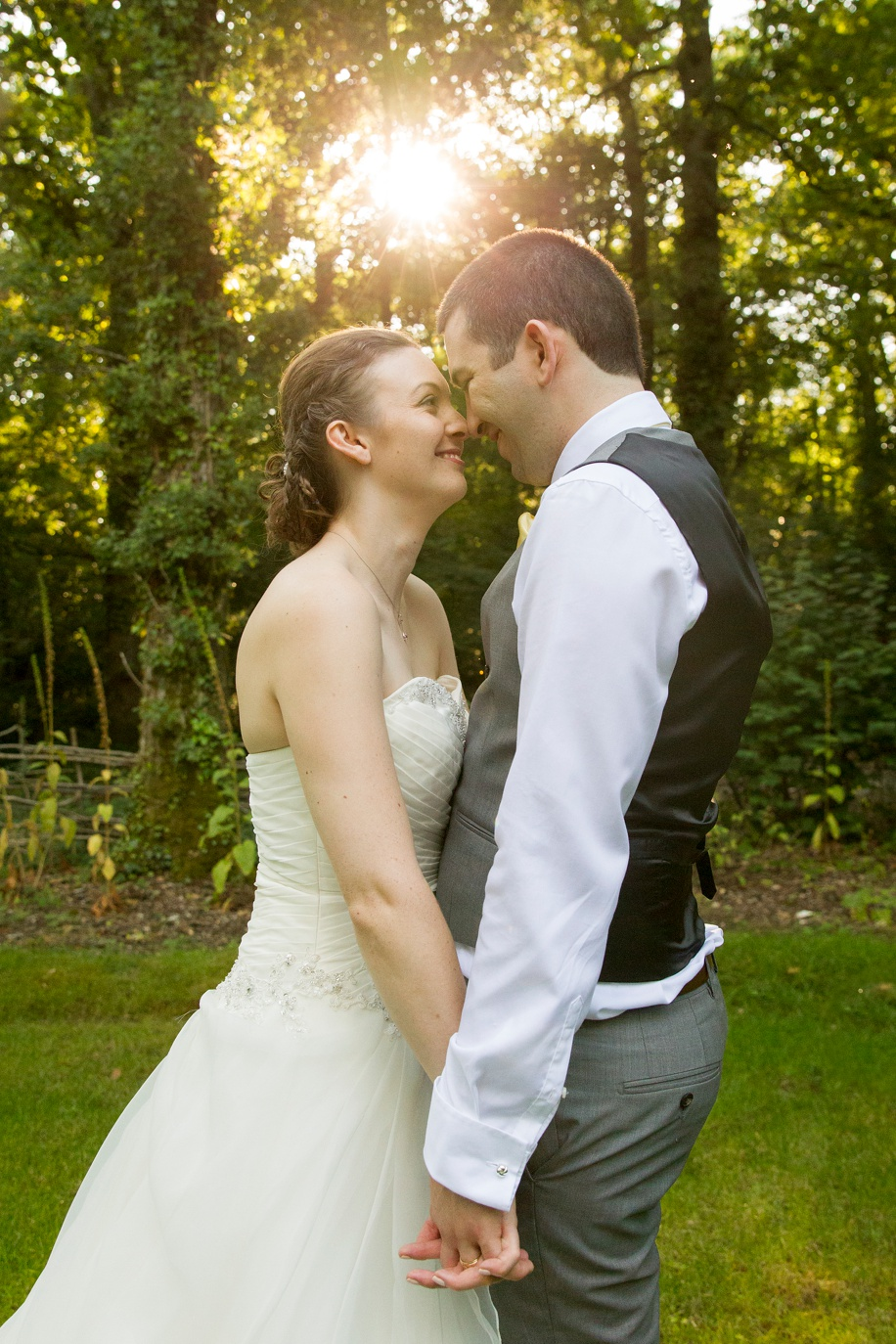 The secret garden at Marwell Hotel - Bride and Groom Marwell Hotel wedding photograph ideas