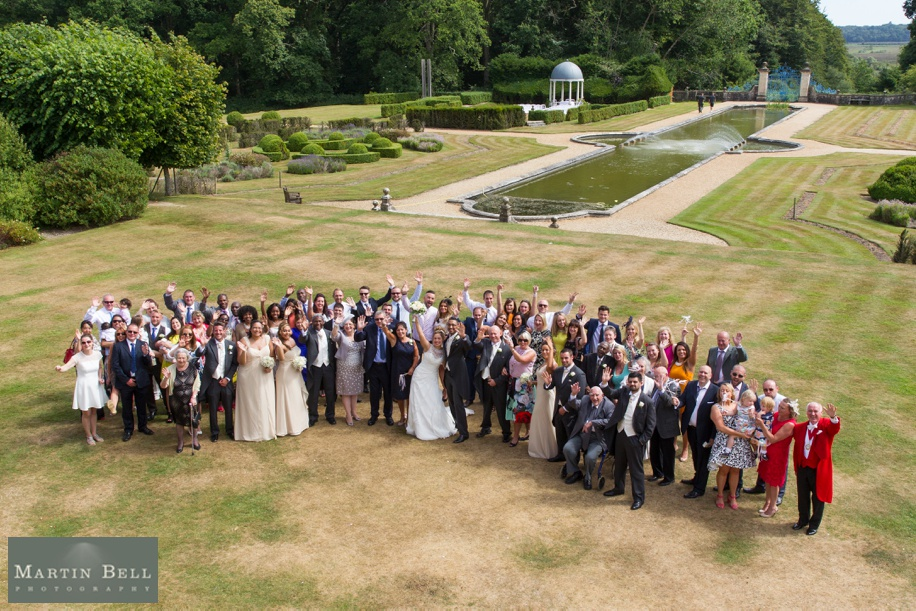 New Forest wedding - Rhinefield House - Martin Bell Photography - Big group of all guests photographs