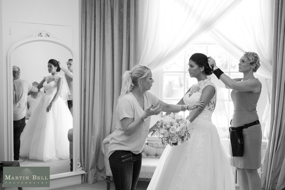 Documentary wedding photography - Bride getting ready at Northcote House