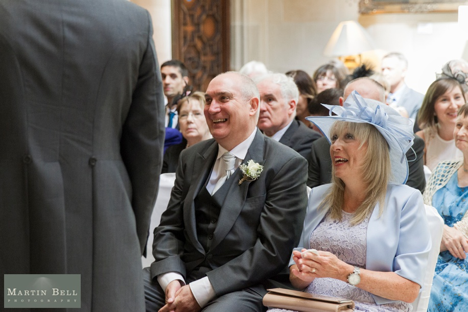 Happy parents of the Groom at Northcote House