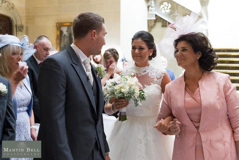 Bride and Groom meet in ceremony