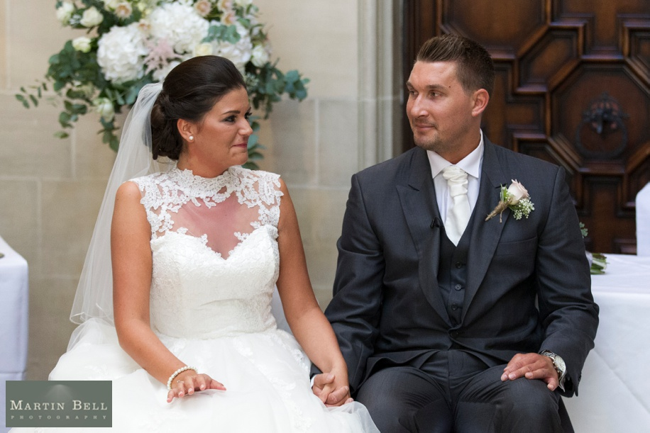 Wedding ceremony at a Summer Northcote House wedding