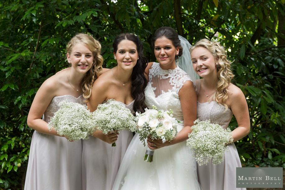 Bride and Bridesmaids at Northcote House
