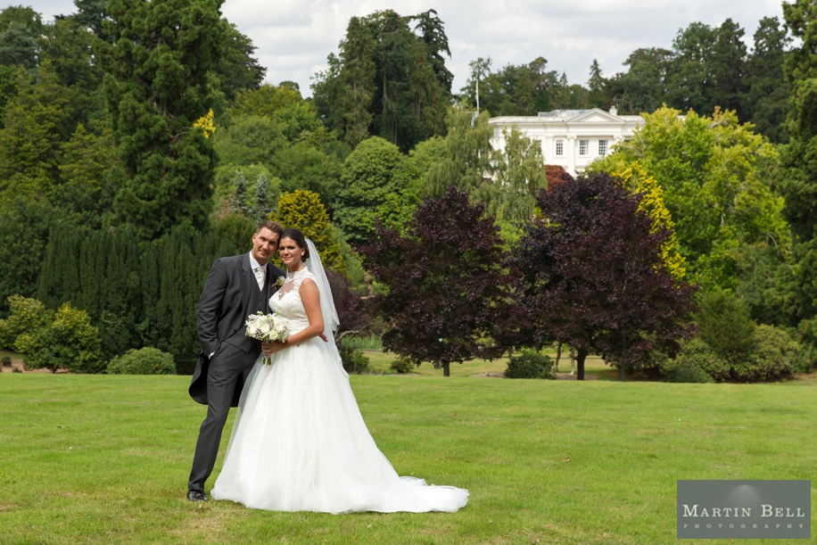 Northcote House wedding - Bride and Groom by manor house