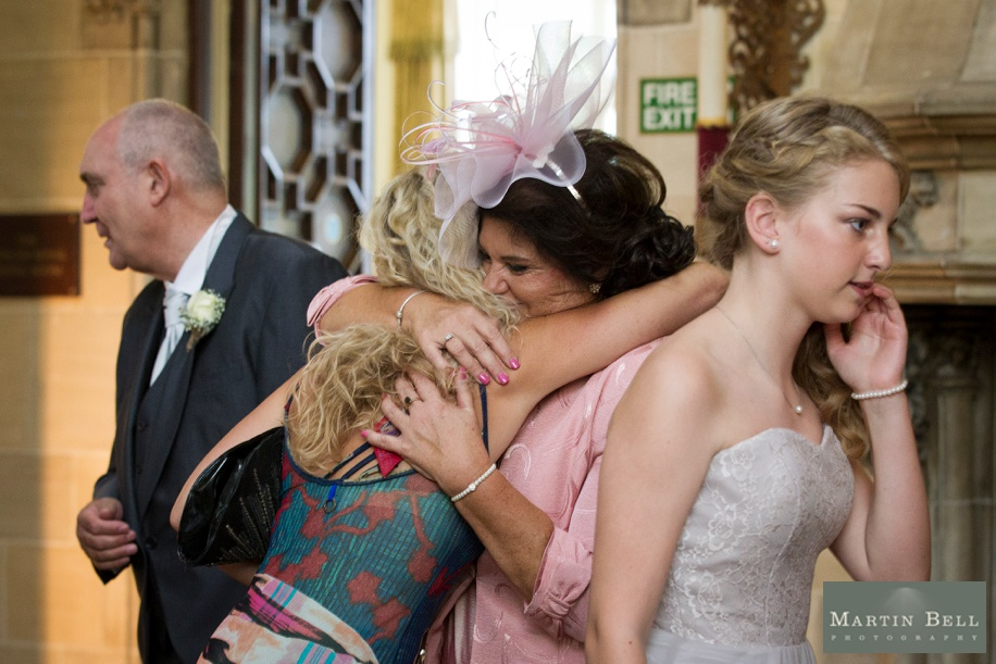 Berkshire wedding photographer - receiving line at Northcote House in Berkshire