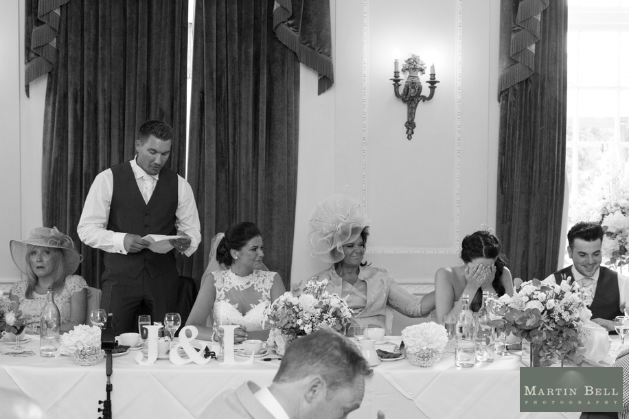 Wedding photography at Northcote House - Speeches