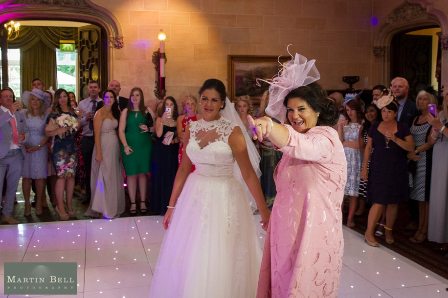 Evening wedding reception at Northcote House