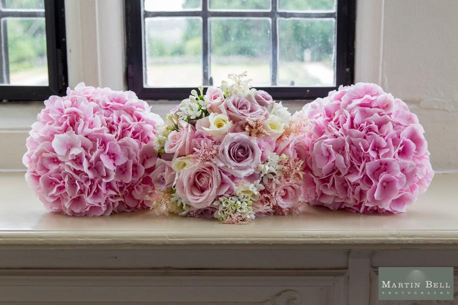 Pink wedding bouquet ideas at Rhinefield House