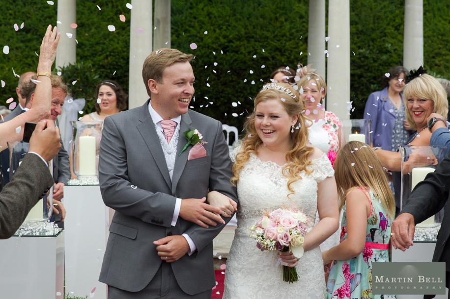 Confetti photograph at a Rhinefield House wedding
