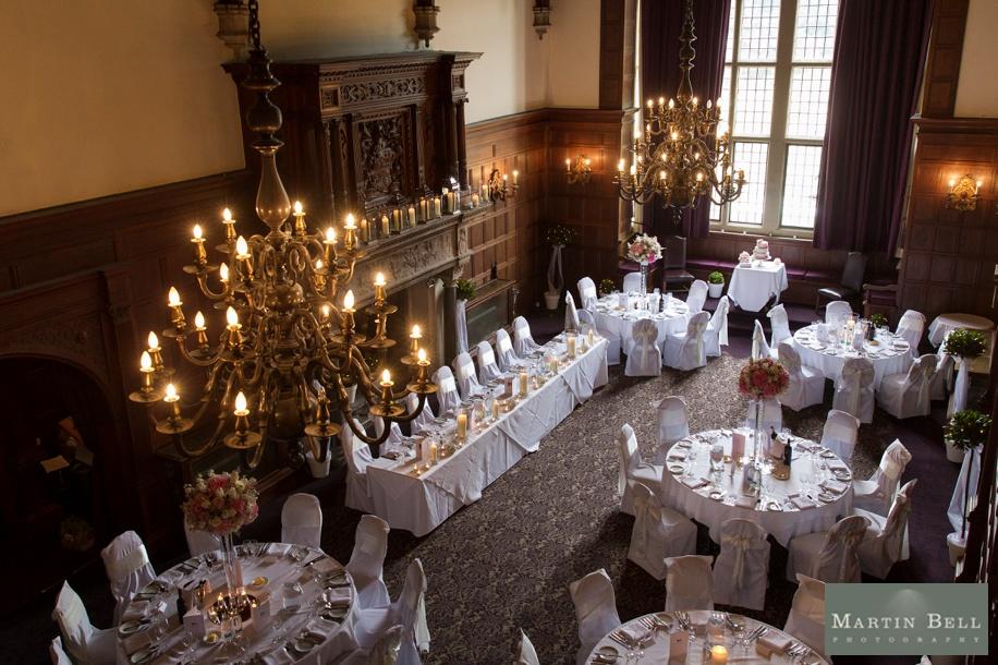 Rhinfield House wedding breakfast ideas - Grand Hall on a wedding day