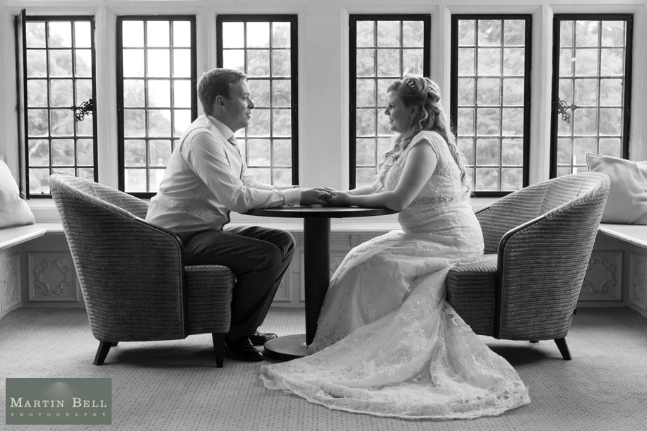 RHinefield House wedding - couples photographs in Walker Suite