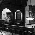RHinefield House wedding - couples photographs on staircase