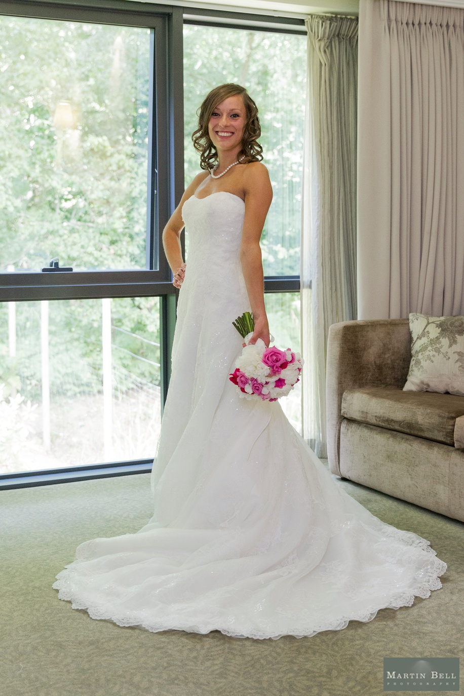 Beautiful Bride photograph at Rhinefield House wedding