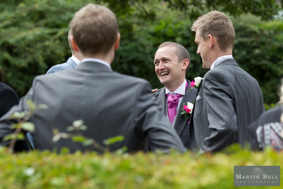 Happy Groom during some Rhinefield House wedding photography