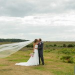 wedding photographs in the New Forest with the Bride and Groom on their way to Rhinefield House in Brockenhurst