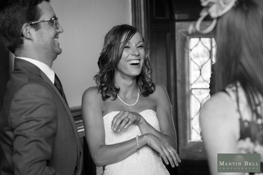 Beaming Bride during receiving line