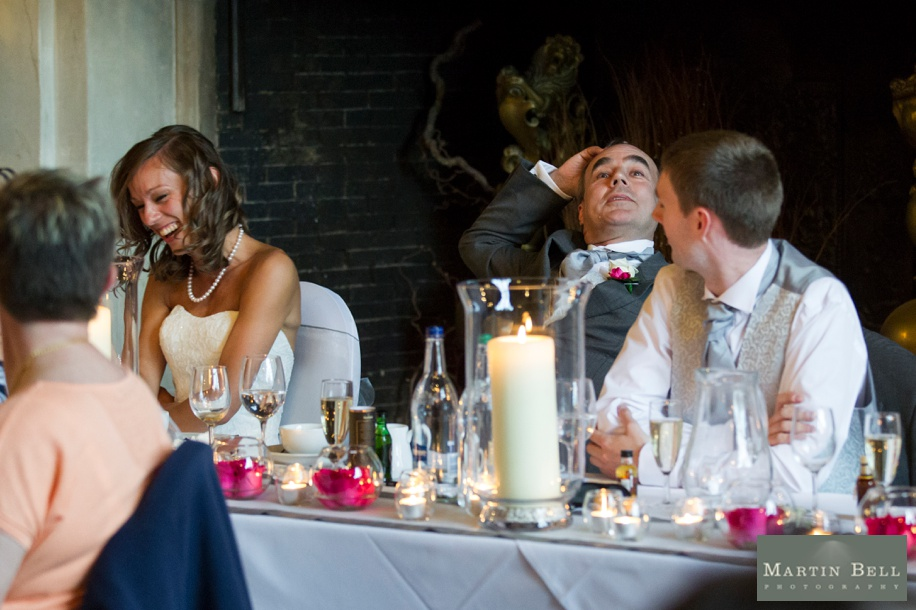Rhine field House wedding photographs - Grand Hall speeches