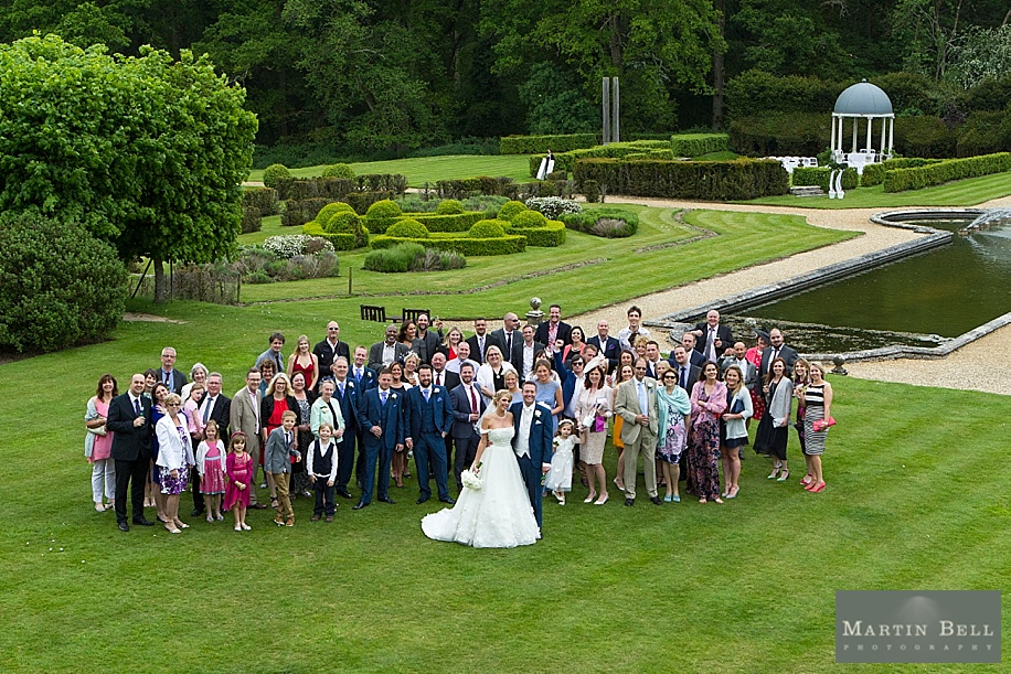 Rhinefield House wedding photography - group photograph of all guests