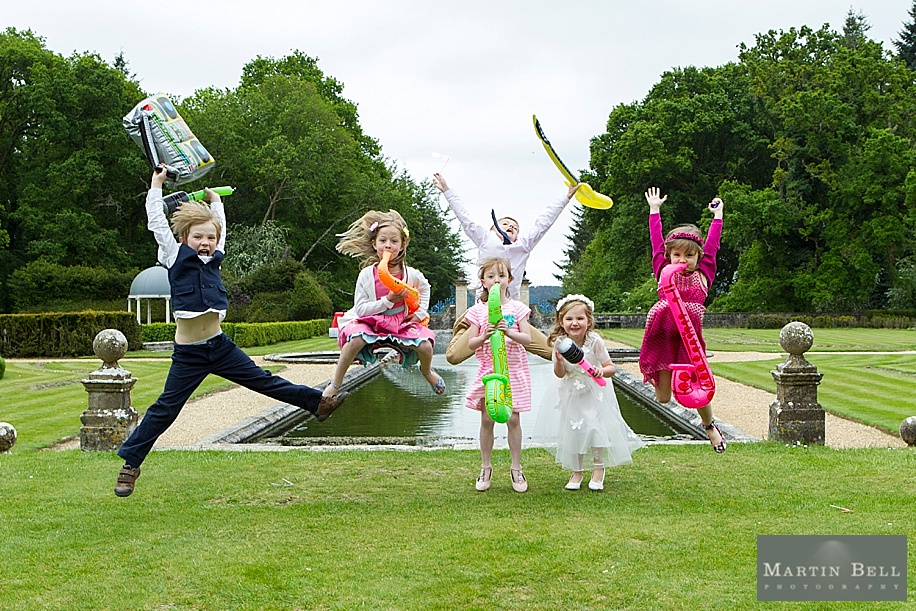 Rhinefield House wedding photography - fun kids photo