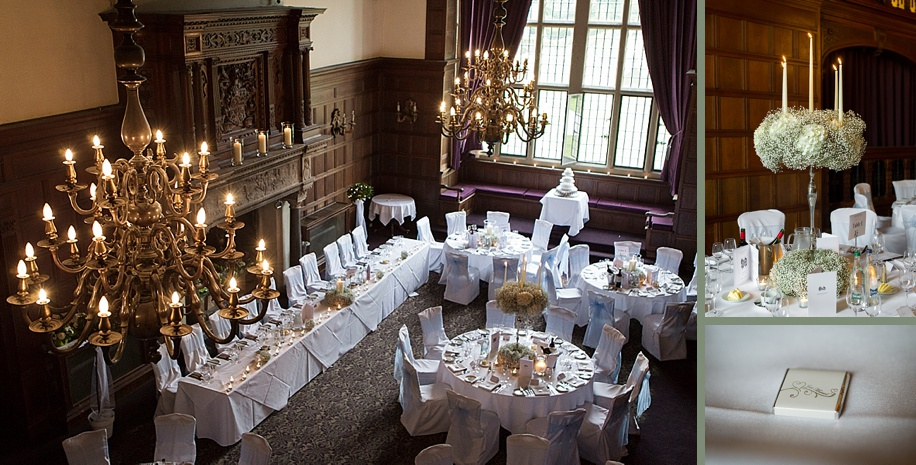 Rhinefield House wedding photography - Grand Hall wedding breakfast ideas