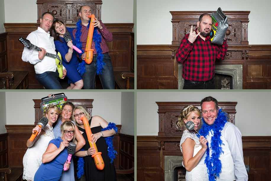 Rhinefield House wedding photography  - fun photo booth - Martin Bell Photography