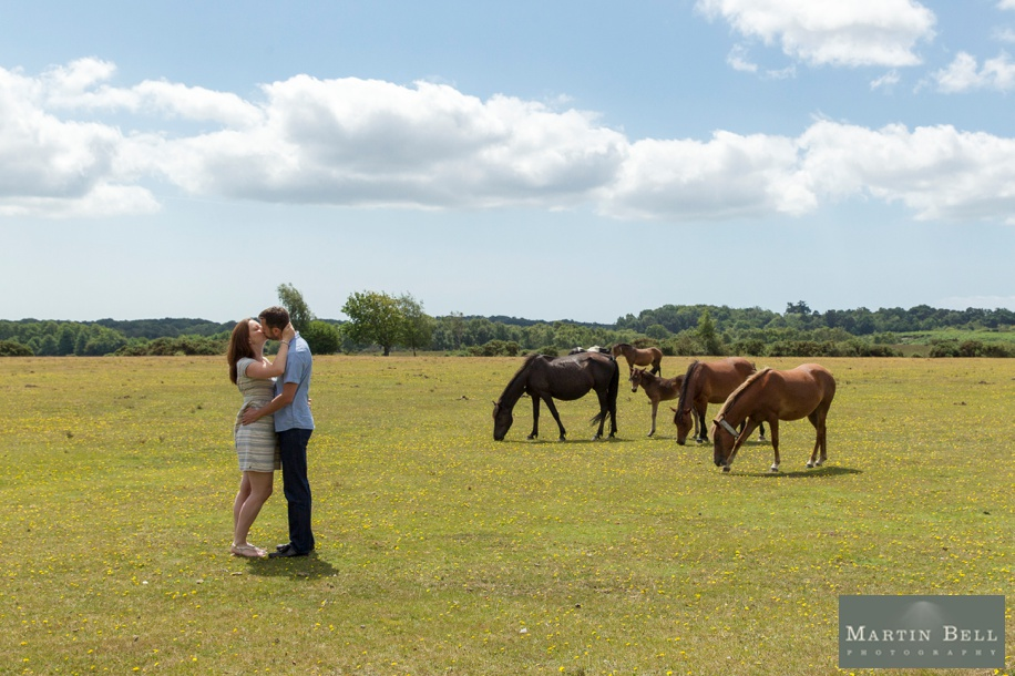 New Forest engagement photo shoot